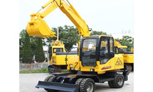 山鼎重工70轮式小型挖掘机