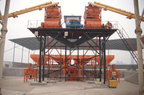 金昊建工重庆二十三局并联JS750组合式搅拌站