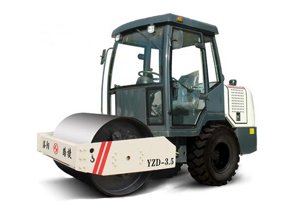 路捷YZD-33吨单钢轮振动压路机高清图 - 外观
