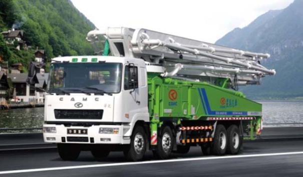 华菱星马AH5410THB0M4-56混凝土泵车