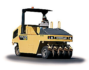 卡特彼勒PS150C 充气滚轮轮胎压路机高清图 - 外观