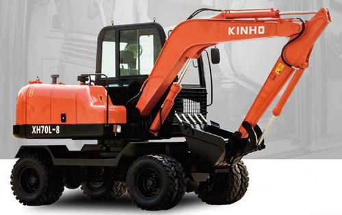 鑫豪XH70L-8轮胎式液压挖掘机高清图 - 外观