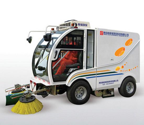 青福QF2000自卸式扫地机高清图 - 外观
