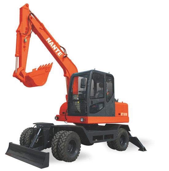 南特NT80W轮式挖掘机高清图 - 外观