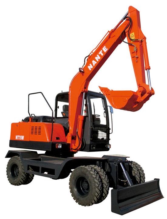 南特NT65W轮式挖掘机高清图 - 外观