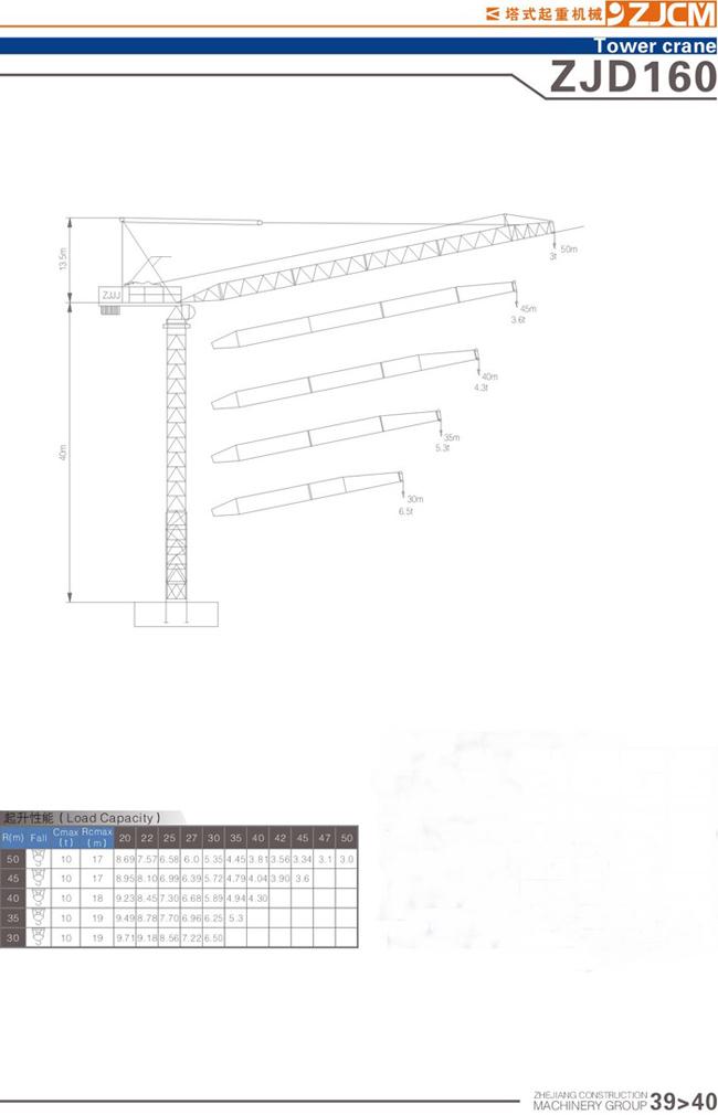 浙江建机ZJD160塔式起重机高清图 - 外观