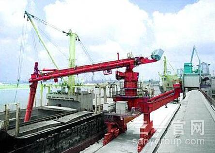 三一重工1000系列SM640T螺旋式连续卸船机高清图 - 外观