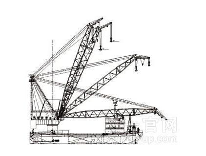 三一重工起重船海工装备高清图 - 外观