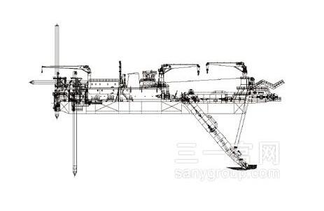 三一重工绞吸式挖泥船海工装备高清图 - 外观