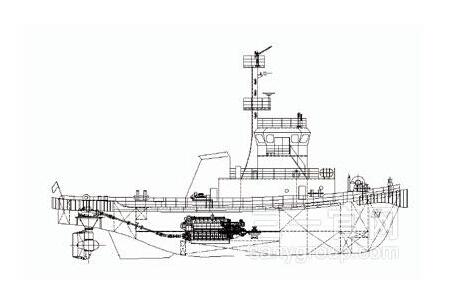 三一重工港作拖轮海工装备高清图 - 外观
