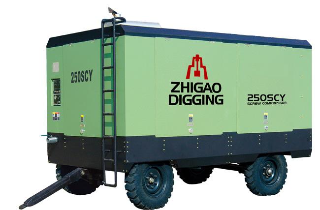 志高250SCY-21柴油移动螺杆压缩机高清图 - 外观