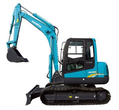 山河智能SWE80E小型挖掘机