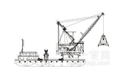 三一重工抓斗式挖泥船海工装备高清图 - 外观