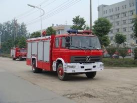 楚胜泡沫消防车-EQ1141KJ-6070Kg