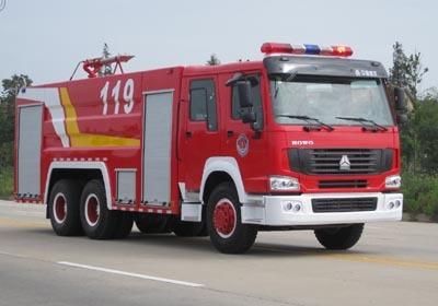 楚胜泡沫消防车-ZZ1256M4646C-11500Kg