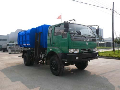 楚飞东风劲诺(6.0吨)挂桶式(自装卸式)垃圾车高清图 - 外观