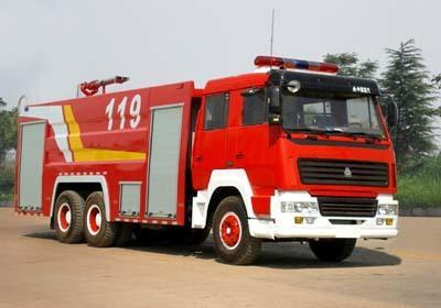 楚胜泡沫消防车-ZZ1167M4617C-8000Kg