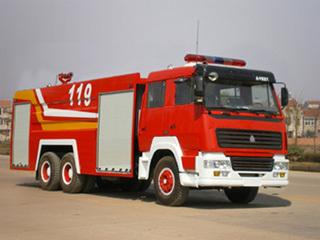 楚胜水罐消防车-ZZ1256M4646C-11500Kg