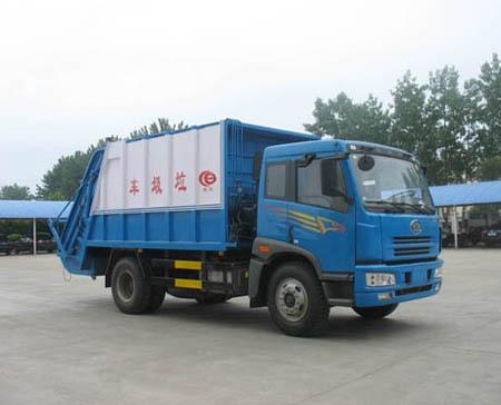 楚飞解放单桥压缩式垃圾车6吨垃圾车