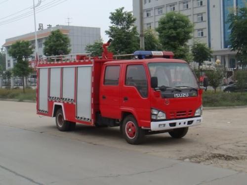 厦工楚胜水罐消防车-NKR77PLLWCJAY-6515Kg