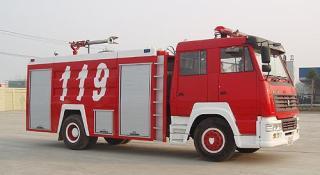 海麟重工斯太尔单桥水罐消防车