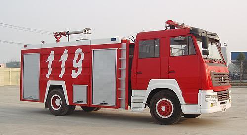 海麟重工斯太爾單橋水罐消防車