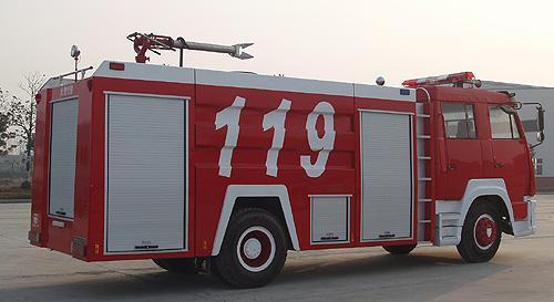 湖北合力斯太爾單橋A類泡沫消防車
