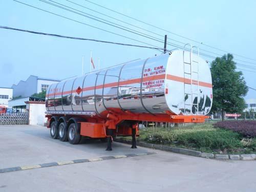 楚飞三轴易燃液体/50.9立方罐式运输半挂车