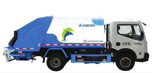 航天晨光CGJ5076ZYS压缩式垃圾车高清图 - 外观