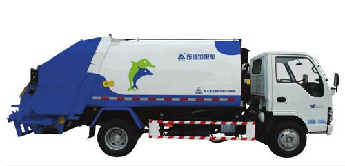 航天晨光CGJ5071ZYSE4压缩式垃圾车高清图 - 外观