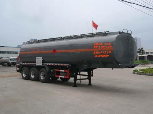 楚飛三軸易燃液體/35.3立方罐式運輸半掛車高清圖 - 外觀
