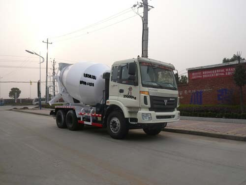 楚飞福田欧曼后双桥(5立方)-CLQ5250GJB3BJ混凝土搅拌运输车