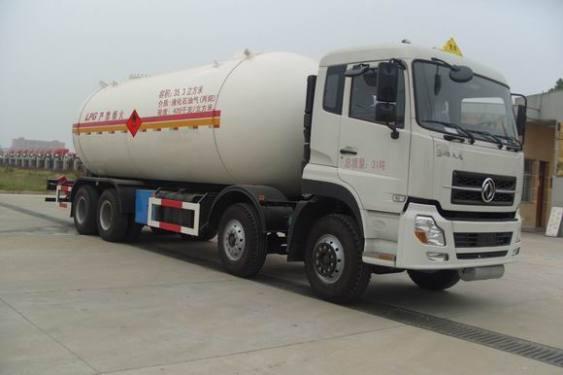 楚飞东风天龙35立方液化气体运输车