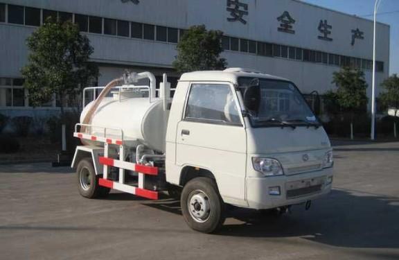楚飞福田牌1.3立方小型沼气池吸污车