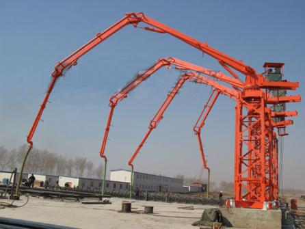 建研HGY17独立式混凝土布料机高清图 - 外观