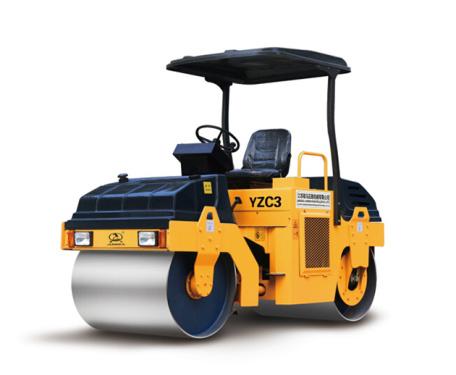 骏马YZC3双钢轮振动压路机