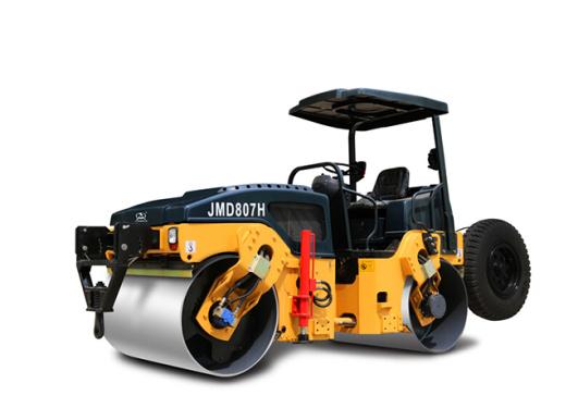 骏马JMD807H全液压双钢轮振动振荡压路机