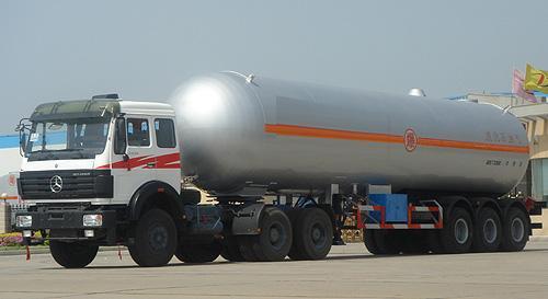 湖北合力液化气体运输半挂车24570kg高清图 - 外观