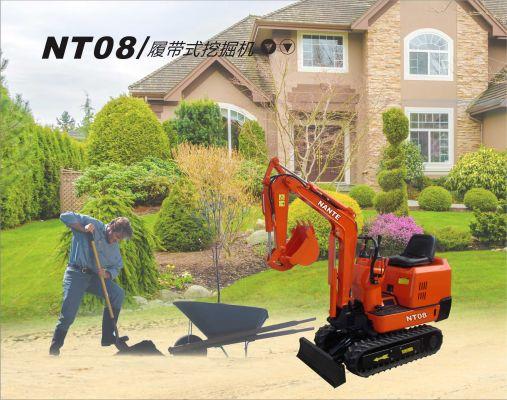 南特NT08全液压履带��_天哈哈一笑式挖掘机