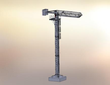 建研HGY32电梯井爬升式布料机高清图 - 外观