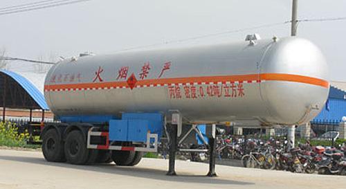 湖北合力液化气体运输半挂车17010kg高清图 - 外观