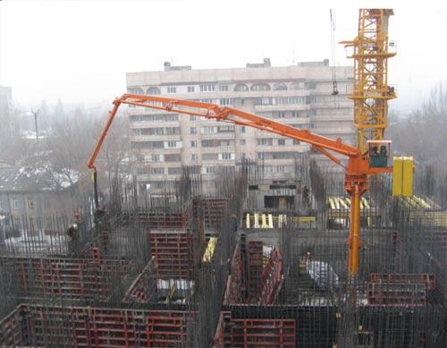 建研HGY17电梯井爬升式布料机高清图 - 外观
