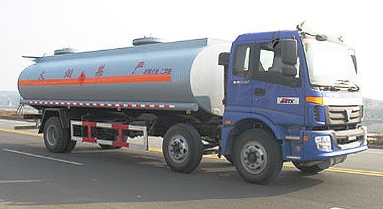 湖北合力福田欧曼小三轴化工液体运输车高清图 - 外观