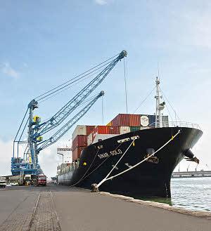 利勃海尔LHM 420移动式码头高架吊高清图 - 外观