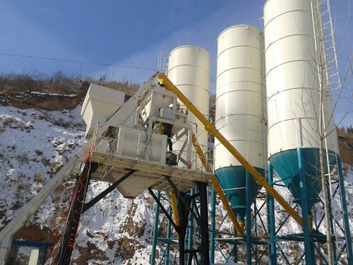 贝特HZS75混凝土搅拌站