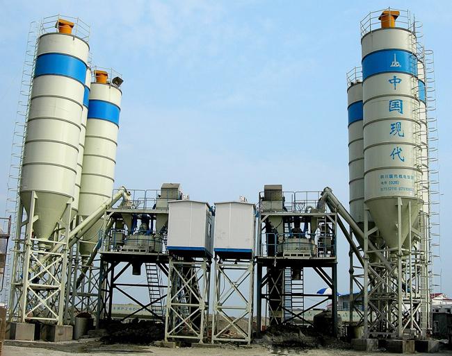 中国现代HZS(N)60E现场快装型混凝土搅拌站高清图 - 外观