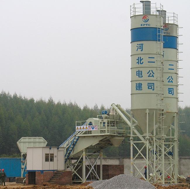 中国现代HZN30T移动拖式型混凝土搅拌站高清图 - 外观