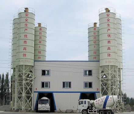 中国现代HZS(N)120A标准型混凝土搅拌站