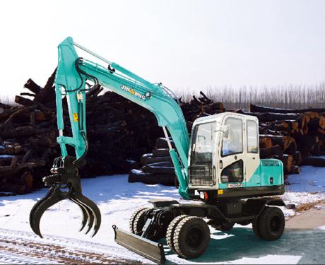 晋工JGM9075L轮胎式多功能蔗木拾装机