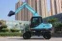 华南重工HNE80W-L轮式挖掘机高清图 - 外观